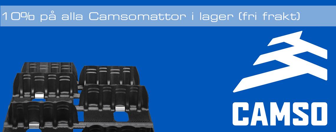 Rea på Camso skotermattor - 10% rabatt på alla camsomattor i lager
